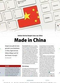 Titelbild der Ausgabe 4/2020 von Deepin Linux: Made in China. Zeitschriften als Abo oder epaper bei United Kiosk online kaufen.
