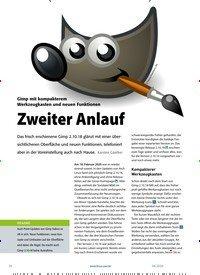 Titelbild der Ausgabe 4/2020 von Gimp 2.10.18: Zweiter Anlauf. Zeitschriften als Abo oder epaper bei United Kiosk online kaufen.