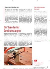 Titelbild der Ausgabe 81/2019 von Ein Spender für Gewindestangen. Zeitschriften als Abo oder epaper bei United Kiosk online kaufen.