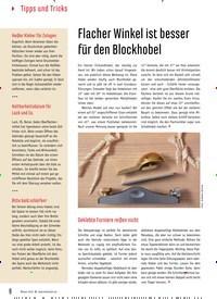 Titelbild der Ausgabe 83/2019 von Flacher Winkel ist besser für den Blockhobel. Zeitschriften als Abo oder epaper bei United Kiosk online kaufen.