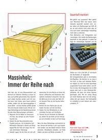 Titelbild der Ausgabe 84/2020 von Massivholz: Immer der Reihe nach. Zeitschriften als Abo oder epaper bei United Kiosk online kaufen.
