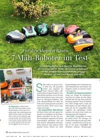 Titelbild der Ausgabe 8/2019 von Für den kleinen Rasen 7 Mäh-Roboter im Test. Zeitschriften als Abo oder epaper bei United Kiosk online kaufen.