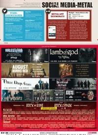 Titelbild der Ausgabe 6/2019 von SOCIAL MEDIA-METAL. Zeitschriften als Abo oder epaper bei United Kiosk online kaufen.