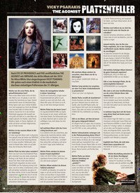 Titelbild der Ausgabe 10/2019 von PLATTENTELLER: VICKY PSARAKIS THE AGONIST. Zeitschriften als Abo oder epaper bei United Kiosk online kaufen.