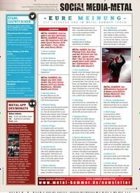 Titelbild der Ausgabe 2/2020 von SOCIAL MEDIA METAL: EURE MEINUNG. Zeitschriften als Abo oder epaper bei United Kiosk online kaufen.