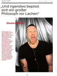 """Titelbild der Ausgabe 3/2019 von BLIND DATE: """"Und irgendwo bepisst sich ein großer Philosoph vor Lachen"""". Zeitschriften als Abo oder epaper bei United Kiosk online kaufen."""