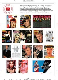 Titelbild der Ausgabe 4/2019 von 50 JAHRE ME: Neue Serie, Teil 3: (Fast) 50 Jahre mit David Bowie. Zeitschriften als Abo oder epaper bei United Kiosk online kaufen.