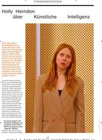 Titelbild der Ausgabe 6/2019 von THEMENINTERVIEW: Holly Herndon über Künstliche Intelligenz. Zeitschriften als Abo oder epaper bei United Kiosk online kaufen.