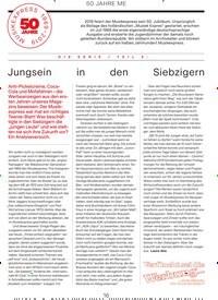 Titelbild der Ausgabe 6/2019 von 50 JAHRE ME: DIE SERIE / TEIL 5: Jungsein in den Siebzigern. Zeitschriften als Abo oder epaper bei United Kiosk online kaufen.