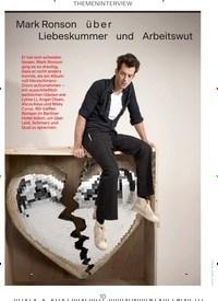 Titelbild der Ausgabe 7/2019 von THEMENINTERVIEW: Mark Ronson über Liebeskummer und Arbeitswut. Zeitschriften als Abo oder epaper bei United Kiosk online kaufen.