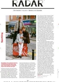 Titelbild der Ausgabe 9/2019 von Sparkling: RADAR. Zeitschriften als Abo oder epaper bei United Kiosk online kaufen.