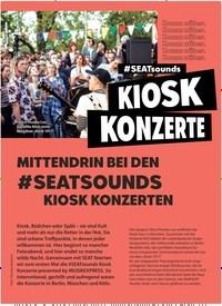 Titelbild der Ausgabe 9/2019 von KIOSK KONZERTE: MITTENDRIN BEI DEN #SEATSOUNDS KIOSK KONZERTEN. Zeitschriften als Abo oder epaper bei United Kiosk online kaufen.
