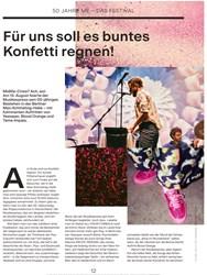 Titelbild der Ausgabe 10/2019 von 50 JAHRE ME – DAS FESTIVAL: Für uns soll eFür uns soll es buntes Konfetti regnen!. Zeitschriften als Abo oder epaper bei United Kiosk online kaufen.