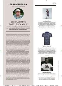 """Titelbild der Ausgabe 1/2020 von FASHION KILLA: Die Stil-Kolumne von Jan Kedves: DIE KRAWATTE SAGT """"FUCK YOU!"""". Zeitschriften als Abo oder epaper bei United Kiosk online kaufen."""