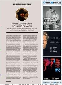 Titelbild der Ausgabe 1/2020 von HIRNFLIMMERN Die Popismus-Kolumne von Josef Winkler: RÜTTEL UND SUMM, 30 JAHRE DANACH. Zeitschriften als Abo oder epaper bei United Kiosk online kaufen.