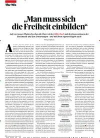 """Titelbild der Ausgabe 3/2019 von """"Man muss sich die Freiheit einbilden"""". Zeitschriften als Abo oder epaper bei United Kiosk online kaufen."""