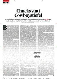 Titelbild der Ausgabe 4/2019 von Chucks statt Cowboystiefel. Zeitschriften als Abo oder epaper bei United Kiosk online kaufen.