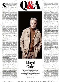 Titelbild der Ausgabe 8/2019 von Q&A: Lloyd Cole. Zeitschriften als Abo oder epaper bei United Kiosk online kaufen.