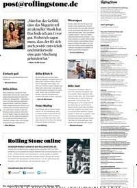 Titelbild der Ausgabe 10/2019 von post@rollingstone.de. Zeitschriften als Abo oder epaper bei United Kiosk online kaufen.