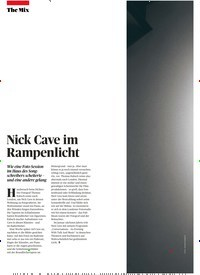 Titelbild der Ausgabe 10/2019 von Nick Cave im Rampenlicht. Zeitschriften als Abo oder epaper bei United Kiosk online kaufen.
