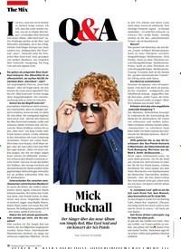 Titelbild der Ausgabe 11/2019 von Mick Hucknall. Zeitschriften als Abo oder epaper bei United Kiosk online kaufen.