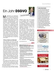 Titelbild der Ausgabe 8/2019 von Ein Jahr DSGVO. Zeitschriften als Abo oder epaper bei United Kiosk online kaufen.