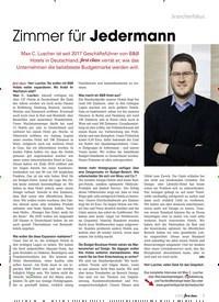 Titelbild der Ausgabe 8/2019 von Zimmer für Jedermann. Zeitschriften als Abo oder epaper bei United Kiosk online kaufen.