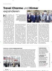 Titelbild der Ausgabe 10/2019 von Travel Charme und Hirmer expandieren. Zeitschriften als Abo oder epaper bei United Kiosk online kaufen.