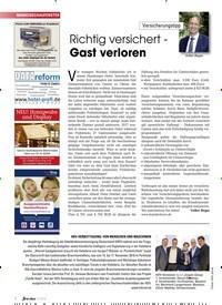 Titelbild der Ausgabe 10/2019 von Versicherungstipp: Richtig versichert -Gast verloren. Zeitschriften als Abo oder epaper bei United Kiosk online kaufen.