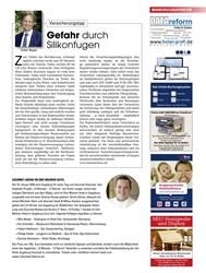 Titelbild der Ausgabe 12/2019 von Versicherungstipp: Gefahr durch Silikonfugen. Zeitschriften als Abo oder epaper bei United Kiosk online kaufen.