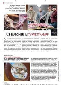 Titelbild der Ausgabe 6/2019 von US-BUTCHER IM TV-WETTKAMPF. Zeitschriften als Abo oder epaper bei United Kiosk online kaufen.
