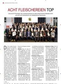 Titelbild der Ausgabe 1/2020 von LANDESEHRENPREIS NRW: ACHT FLEISCHEREIEN TOP. Zeitschriften als Abo oder epaper bei United Kiosk online kaufen.