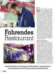 Titelbild der Ausgabe 1/2019 von Fahrendes Restaurant. Zeitschriften als Abo oder epaper bei United Kiosk online kaufen.