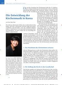 Titelbild der Ausgabe 4/2019 von Die Entwicklung der Kirchenmusik in Korea. Zeitschriften als Abo oder epaper bei United Kiosk online kaufen.