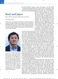 Titelbild der Ausgabe 4/2019 von Bach und Japan. Zeitschriften als Abo oder epaper bei United Kiosk online kaufen.