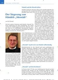 """Titelbild der Ausgabe 6/2019 von Der Siegeszug von Händels """"Messiah"""". Zeitschriften als Abo oder epaper bei United Kiosk online kaufen."""