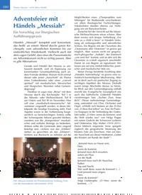 """Titelbild der Ausgabe 6/2019 von Adventsfeier mit Händels """"Messiah"""": Ein Vorschlag zur liturgischen Aufführungspraxis. Zeitschriften als Abo oder epaper bei United Kiosk online kaufen."""