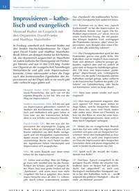Titelbild der Ausgabe 1/2020 von Improvisieren – katholisch und evangelisch. Zeitschriften als Abo oder epaper bei United Kiosk online kaufen.