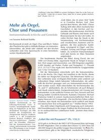 Titelbild der Ausgabe 2/2020 von Mehr als Orgel, Chor und Posaunen: Instrumentalmusik in Kirche und Gemeinde. Zeitschriften als Abo oder epaper bei United Kiosk online kaufen.