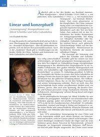 Titelbild der Ausgabe 4/2020 von Linear und konzeptuell. Zeitschriften als Abo oder epaper bei United Kiosk online kaufen.
