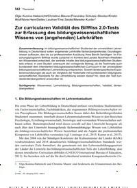 Titelbild der Ausgabe 4/2019 von Zur curricularen Validität des BilWiss 2.0-Tests zur Erfassung des bildungswissenschaftlichen Wissens von (angehenden) Lehrkräften. Zeitschriften als Abo oder epaper bei United Kiosk online kaufen.
