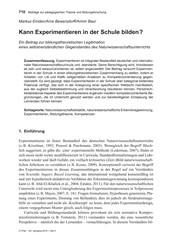 Titelbild der Ausgabe 5/2019 von Markus Emden/Arne Bewersdorff/Armin Baur: Kann Experimentieren in der Schule bilden ?. Zeitschriften als Abo oder epaper bei United Kiosk online kaufen.
