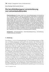 Titelbild der Ausgabe 5/2019 von llona Esslinger-Hinz/Liselotte Denner: Die berufsfeldbezogene Lernorientierung von Lehramtsstudierenden. Zeitschriften als Abo oder epaper bei United Kiosk online kaufen.