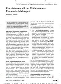 Titelbild der Ausgabe 4/2020 von Thema Perspektiven auf Organisationsentwicklung in der Mädchen*arbeit: Rechtsformwahl bei Mädchen- und Fraueneinrichtungen. Zeitschriften als Abo oder epaper bei United Kiosk online kaufen.