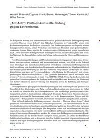 """Titelbild der Ausgabe 11/2019 von """"AntiAnti"""": Politisch-kulturelle Bildung gegen Extremismus. Zeitschriften als Abo oder epaper bei United Kiosk online kaufen."""