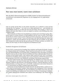 Titelbild der Ausgabe 3/2020 von Nur was man kennt, kann man schützen. Zeitschriften als Abo oder epaper bei United Kiosk online kaufen.