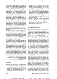Titelbild der Ausgabe 1/2020 von Extended Education. Zeitschriften als Abo oder epaper bei United Kiosk online kaufen.
