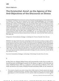 Titelbild der Ausgabe 2/2019 von The Existential ›Anruf‹ as the Agency of the Anti-Objectives of the Discourse on Stress. Zeitschriften als Abo oder epaper bei United Kiosk online kaufen.