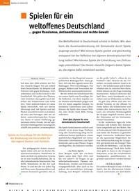 Titelbild der Ausgabe 6/2018 von Spielen für ein weltoffenes Deutschland. Zeitschriften als Abo oder epaper bei United Kiosk online kaufen.