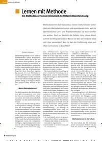 Titelbild der Ausgabe 9/2018 von Lernen mit Methode. Zeitschriften als Abo oder epaper bei United Kiosk online kaufen.